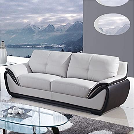 Amazon Global Furniture Bonded Leather Matching Sofa Grey
