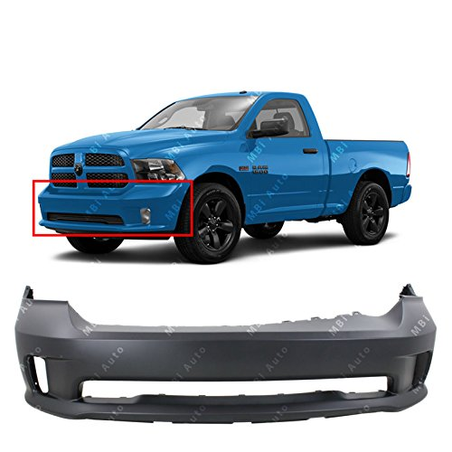 MBI AUTO Primered, Front Bumper Cover Fascia for 2013 2014 2015 2016 2017 RAM 1500 Sport Pickup 13-17, CH1000A10