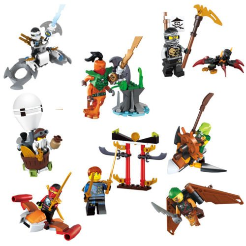 gonggamtop Phantom Ninja ninjago Flying pirate Nada Khan Building blocks lot of 8pcs (Nindroid Costume)