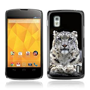 Lmf DIY phone case [Majestic Mountain Lion Blue Eyes] LG Google Nexus 4 CaseLmf DIY phone case