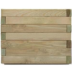 Maceta cuadrada de madera (50x 50x 40cm