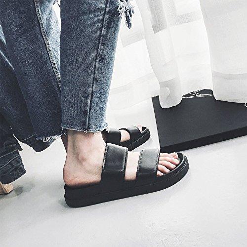 uomini personalizzati tendenza 40 ciabattine le sandali studenti fankou scarpe gli spiaggia estate i nero per da giovani In InI0YZa