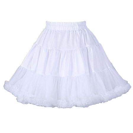 Vxhohdoxs - Falda tutú de tul para mujer y niña X-Large blanco ...