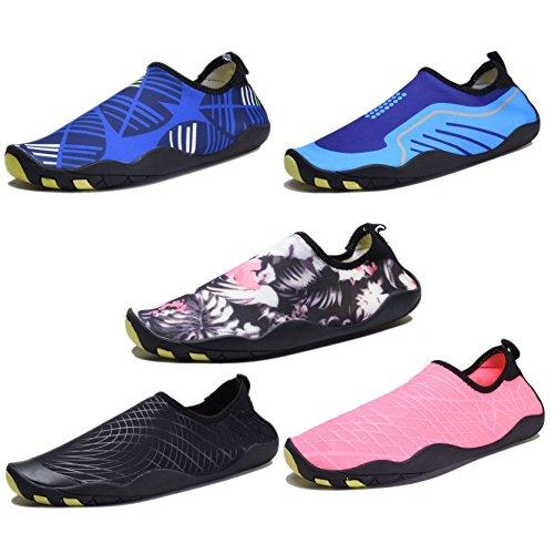 COODO Männer Frauen Wasser Schuhe Barfuß Quick Dry Aqua Turnschuhe für Surf Yoga Schwimmen Königsblau
