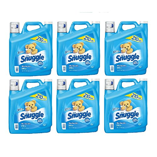 Snuggle Blue Sparkle Fabric Softener (210 Loads, 168 oz.) (6-Pack) by Europe Standard