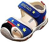 VECJUNIA Baby Boy's Girl's Sports Sandals Low Top Closed Toe Flexible Anti-Slip Outdoor Walking Sandals (Blue, 8 M US Toddler)