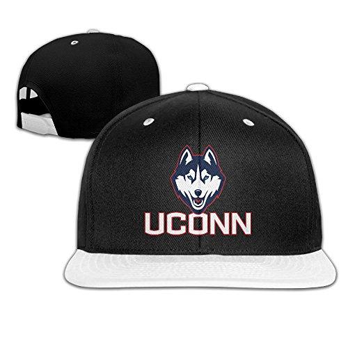 Connecticut University Huskies Adjustable Casual Hip-hop Baseball Cap White