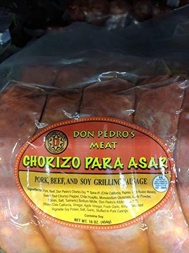 Don Pedro's Chorizo Para Asar 16 Oz (4 Pack)