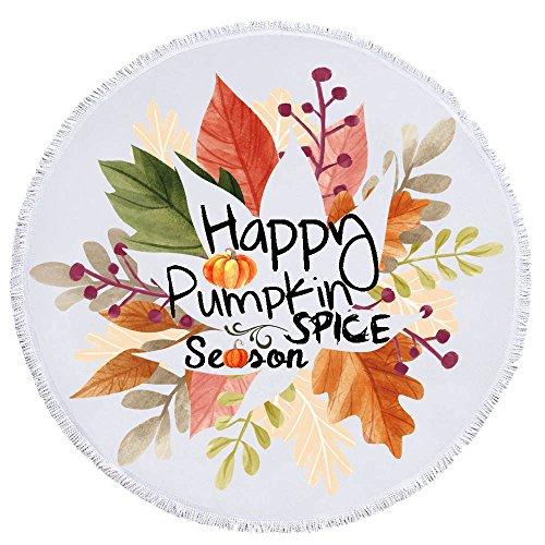 Round Autumn Maple Leaves Happy Pumpkin Spice Season