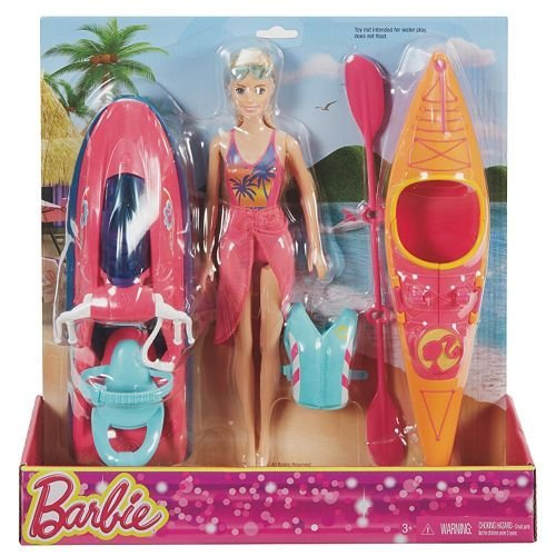 Barbie Beach Fun Pool - Barbie On-The-Go Watercraft and Kayak Set