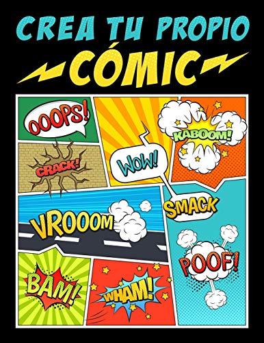 Crea tu propio comic 100 originales plantillas de comics en blanco para adultos, adolescentes y ninos