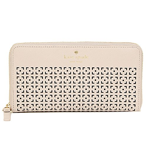 Kate Spade Penn Place Spade embossed neda zip around Continental wallet, pebble