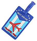 Gentle Meow 2 Pack Luggage Tags Travel Suitcase Label Tags Lovely Shipping Luggage Tag, Blue