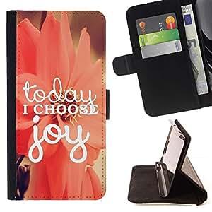 Momo Phone Case / Flip Funda de Cuero Case Cover - Choisissez Joy motivation Floral - Samsung Galaxy Core Prime