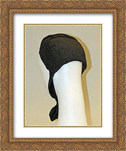 American or European Culture - 20x24 Gold Ornate Frame and Double Matted Museum Art Print - Mourning Bonnet