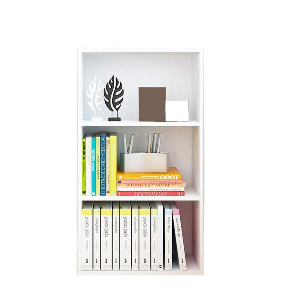 White 3 grids JCAFA Shelves Bookcases Book Organizer Heavy Duty Bookcase Shelf Unit Multi Use Display Storage Display Rack,6 Types (color   White, Size   5 grids)