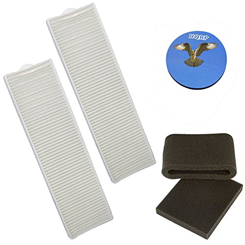 HQRP Filter Kit for Bissell Lift-Off Revolution Pet 37604, 3750, 3760, 37601, 37602, 37605, 37606, 37607, 37608, 3760H, 3760J, 3760P, 3760R, 3760T, 3760V Vac Vacuum Cleaner + HQRP Coaster