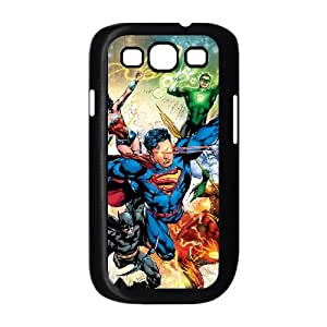 Samsung Galaxy S3 9300 Cell Phone Case Covers Black Justice League Oclwt
