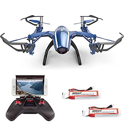 Cheerwing Peregrine Wifi FPV Drone RC Quadcopter with Wide-angle 720P HD Camera, Altitude Hold and Flight Route Mode, One Key Take Off / Landing, Upgrade Version by UDI RC