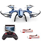 Cheerwing Peregrine Wifi FPV Drone RC Quadcopter with Wide-angle 720P HD Camera, Altitude Hold and Flight Route Mode, One Key Take Off / Landing, Upgrade Version