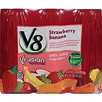 Deals on 24-Pack V8 V-Fusion 100% Juice, Strawberry Banana, 8 Ounce