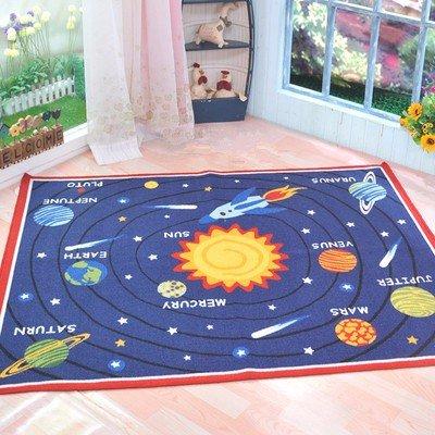 Solar universe living room bedroom early childhood children carpet,1330MM×2000MM by Bopm