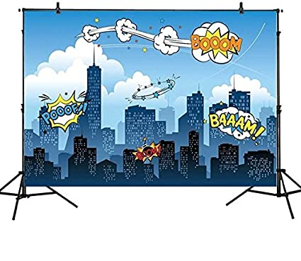 Amazoncom Fullbrain Superhero Party Supplies For Kids 75ft