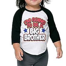 I'm Going To Be A Big Brother Birthday Gift Kids 3/4 Raglan Baseball T Shirts