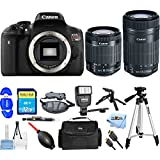 Canon EOS Rebel T6i DSLR Camera with EF-S 18-55mm f/3.5-5.6 IS STM Lens [International Version] (Pro Bundle, 18-55mm & 55-250mm Lenses)
