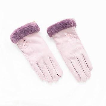 0219d0ee687c4a WWeiweian Handschuhe Damen Frauen Handschuhe Winter Doppelhandschuhe  verdickte Damen fünf Finger Touchscreen Fahrrad kalt warme Handschuhe