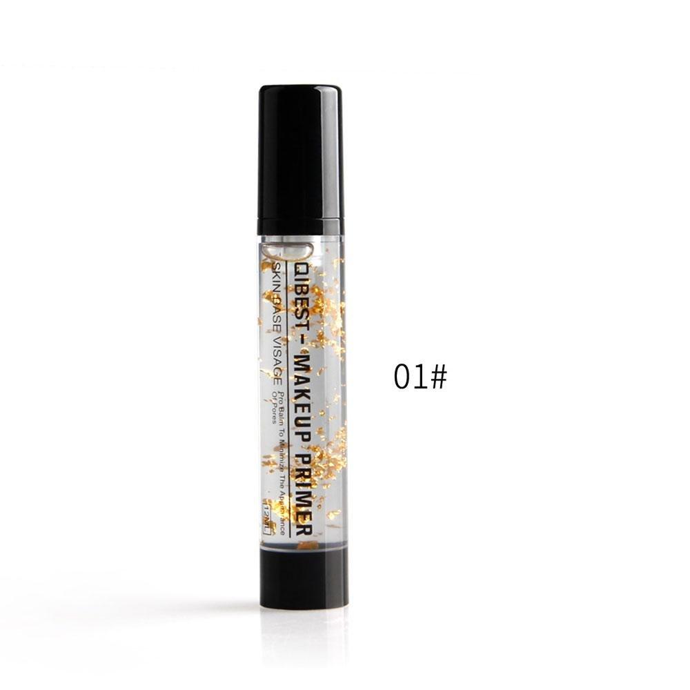 Kobwa Face primer, oro 24K Qibest trucco primer idratante cura della pelle trucco olio