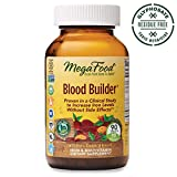 MegaFood - Blood Builder, Iron Supplement, Supports Energy and Red Blood Cell Production without Nausea or Constipation, Vegan, Gluten-Free, Non-GMO, 90 Tablets (FFP)