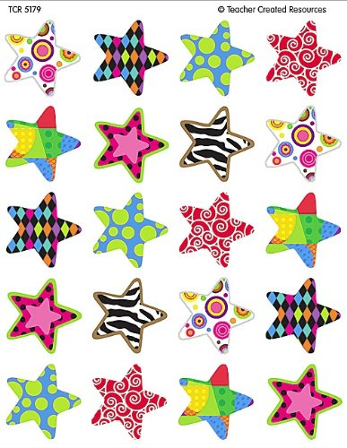 Teacher Created Resources Fancy Stars Stickers 5179 AMArtsCraft0656