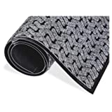 Crown Mats Tire-track Wiper Scraper Mat - Floor, School, Restaurant, Hotel, Shopping Mall - 60'' Length X 36'' Width X 0.38'' Thickness Overall - Vinyl, Polypropylene - Gray (te0035gy)