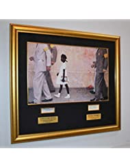 """Original Fine Art Lithograph on Canvas,""""The Problem We All Live With""""-NORMAN ROCKWELL ROSA PARKS Signed, with Ruby Bridges Signed book Frame, and original Rockwell LOOK Magazine DVD, COA, UACC, more"""