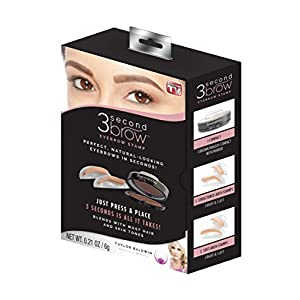 3 Second Brow Eyebrow Stamp - Perfect, Natural-Looking Eye Brows in Seconds   Water Resistant, Long Lasting, All Natural Color