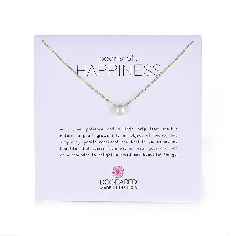 Dogeared Pearls of Happiness Freshwater Cultured Pearl on Gold Filled Chain Necklace, 16'' +2'' Extender
