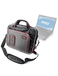 """DURAGADGET Water Resistant Laptop Compartment Bag / Carry Case / Briefcase With Multiple Storage Pockets And Shoulder Strap For MSI U270 11.6"""", U230, U250 12.1"""" & X370 13.4"""""""
