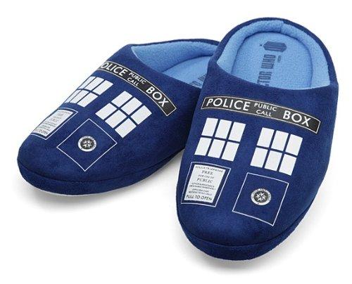 Doctor Who TARDIS Hausschuhe - SMALL - UK 3/5