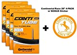 Continental Race 28'' 700x25-32c Bicycle Inner Tube Bundle - 60mm Presta Valve - 4 PACK w/ BONUS Conti Sticker