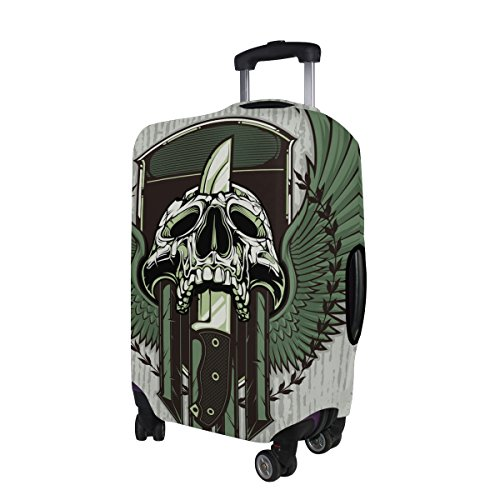 Punk Skull Travel Luggage Protector Baggage Suitcase Cover Fits 29-32 Inch Luggage by CoolPrintAll (Image #3)