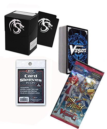 Cardfight 60 Cards Pack w/ RR & RRR 1 Booster Pack, Deck Box & Sleeves