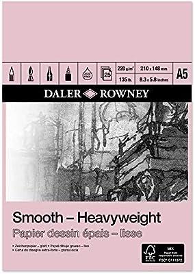 220gsm A4 Daler Rowney Smooth Heavyweight Cartridge Pad