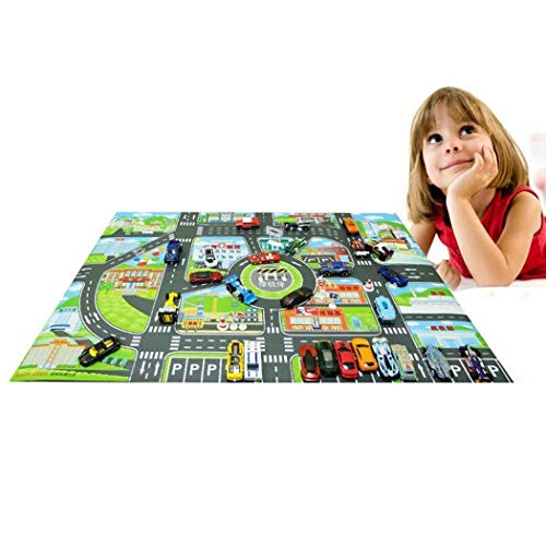 Erholi Children World Map Traffic Road Play Mat Game Pad Educational Toy Baby Gyms & Playmats