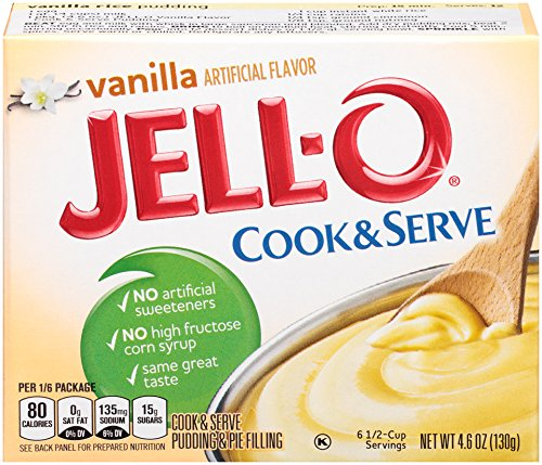 JELL-O Cook and Serve Pudding and Pie Filling, Vanilla, 4.6-Ounce