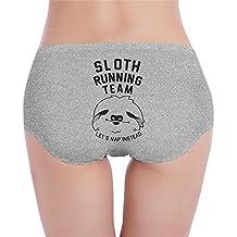 Sloth Running Team Let's Nap Instead Women' Funny Underwear Undies