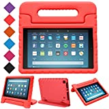 LTROP Fire HD 8 2018/2017 Case, Light Weight Shock Proof Convertible Handle Stand EVA Protective Kids Case for Amazon Fire 8 inch Display Tablet (8th Gen & 7th Generation - 2018/2017 Release) – Red