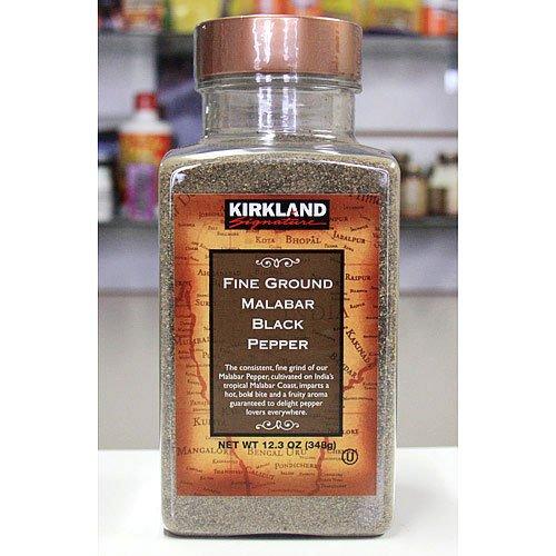 8 Pack Wholesale Lot Kirkland Signature Fine Ground Malabar Black Pepper, 12.3oz