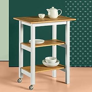 Zinus Becky Farmhouse Kitchen Cart