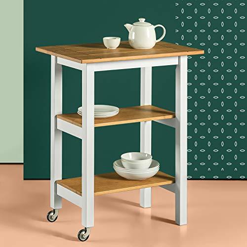 Zinus Farmhouse Wood Kitchen Cart